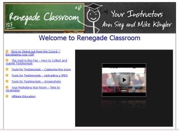 Renegade Classroom